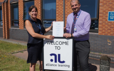 Bolton-based Training Provider Alliance Learning has been re-awarded a national accreditation for exceptional Information, Advice and Guidance Services, which is known as the 'Matrix Accreditation'