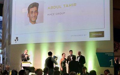 Construction Apprentice Abdul wins Apprentice of the Year!
