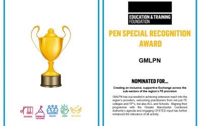 GMLPN receive ETF award for Professional Exchange Programme